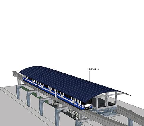 Solar Power Train Station